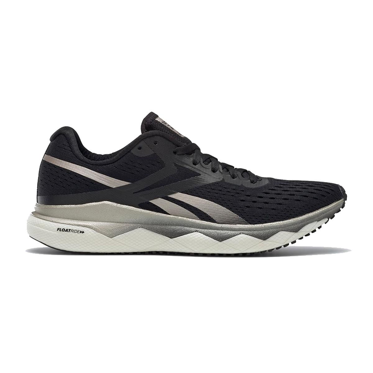 Women's Reebok Floatride Run Fast 2.0 Running Shoe - Color: Black/Moondust/White - Size: 5 - Width: Regular, Black/Moondust/White, large, image 1