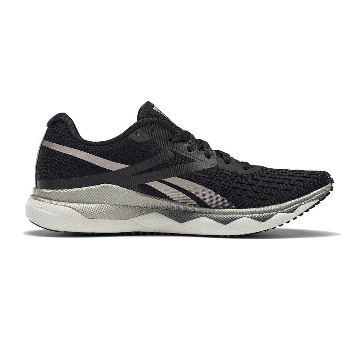 Women's Reebok Floatride Run Fast 2.0 Running Shoe - Color: Black/Moondust/White - Size: 5 - Width: Regular, Black/Moondust/White, large, image 2