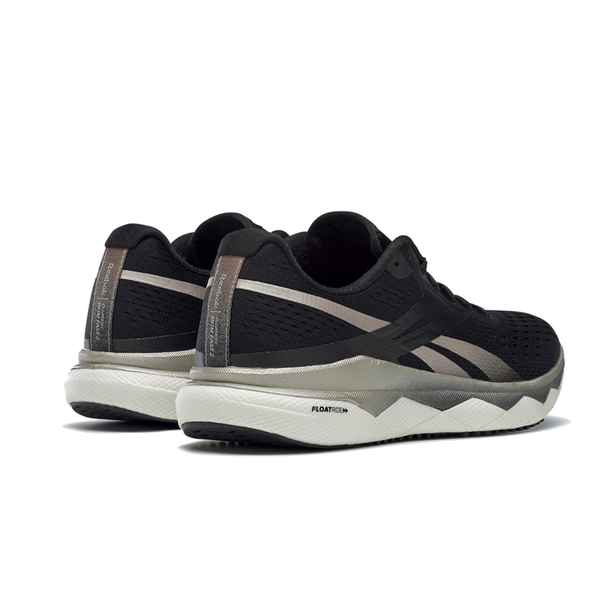 Women's Reebok Floatride Run Fast 2.0 Running Shoe - Color: Black/Moondust/White - Size: 5 - Width: Regular, Black/Moondust/White, large, image 3