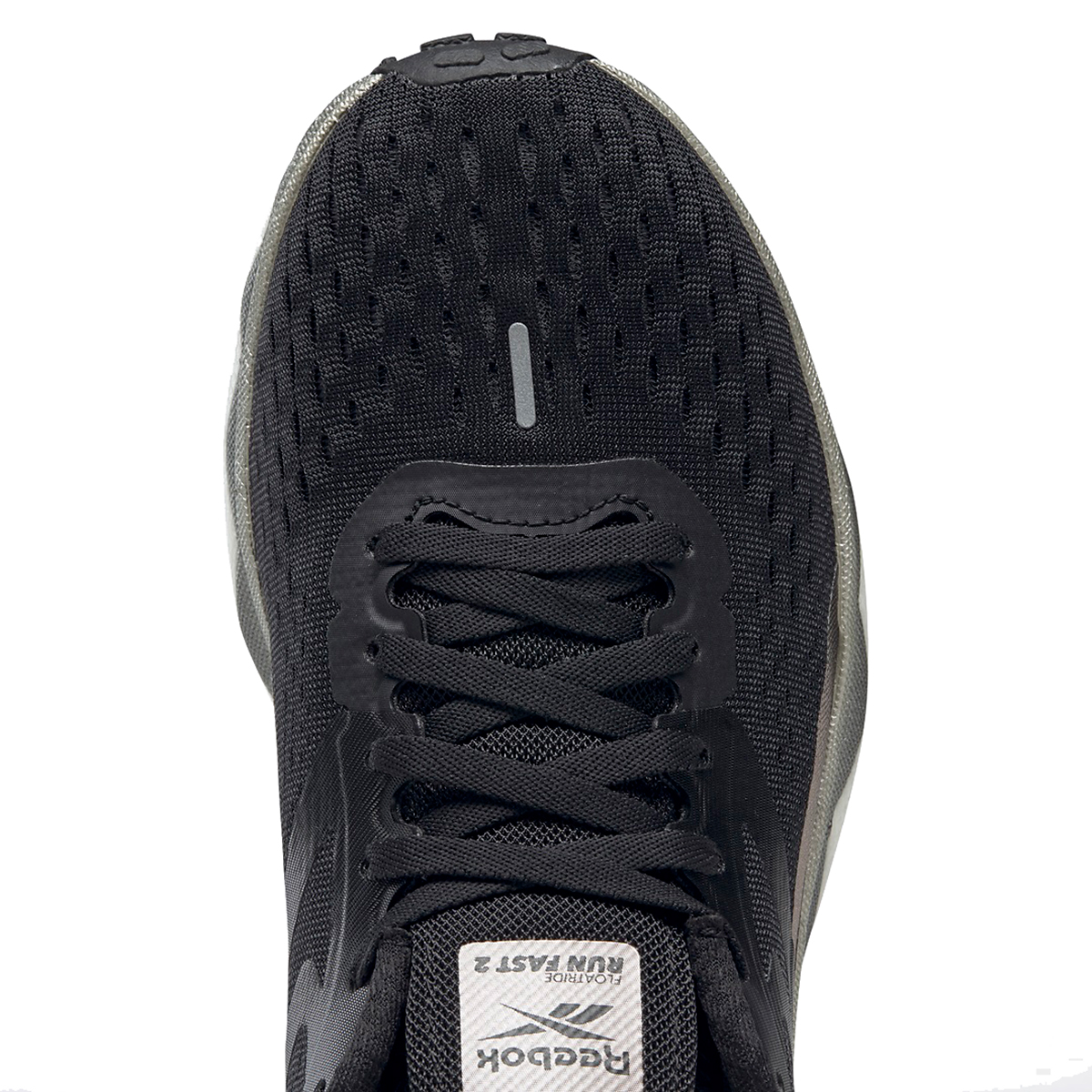 Women's Reebok Floatride Run Fast 2.0 Running Shoe - Color: Black/Moondust/White - Size: 5 - Width: Regular, Black/Moondust/White, large, image 5