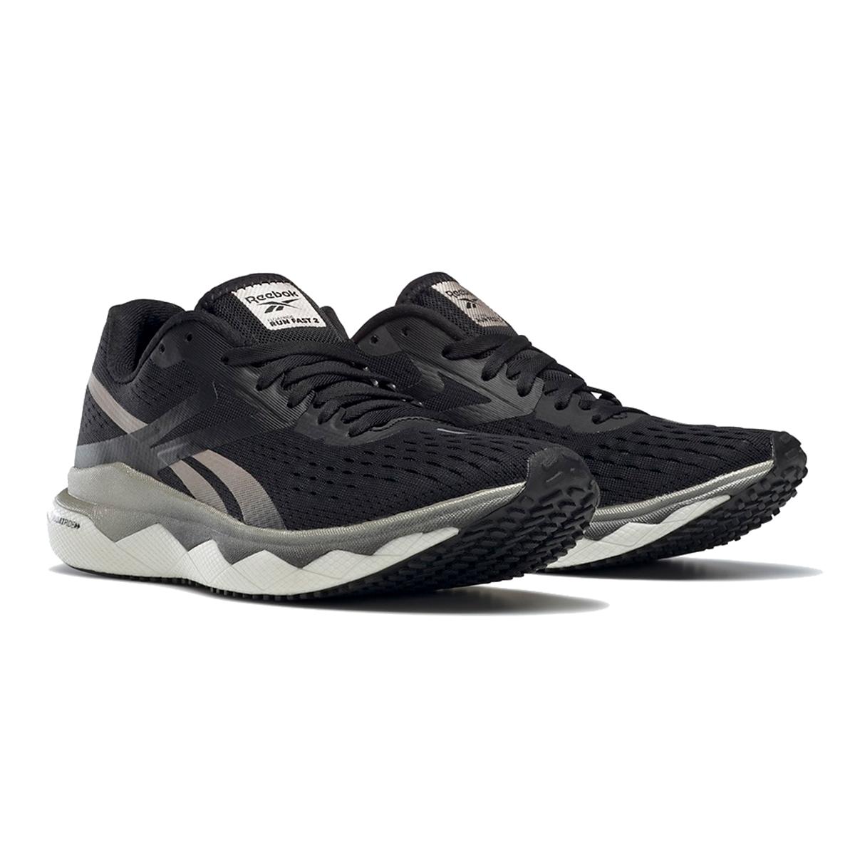 Women's Reebok Floatride Run Fast 2.0 Running Shoe - Color: Black/Moondust/White - Size: 5 - Width: Regular, Black/Moondust/White, large, image 7