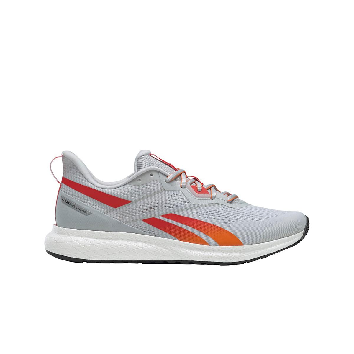 Men's Reebok Forever Floatride Energy 2.0 Running Shoe - Color: Pure Grey/White/High Vis Orange - Size: 7 - Width: Regular, Pure Grey/White/High Vis Orange, large, image 1