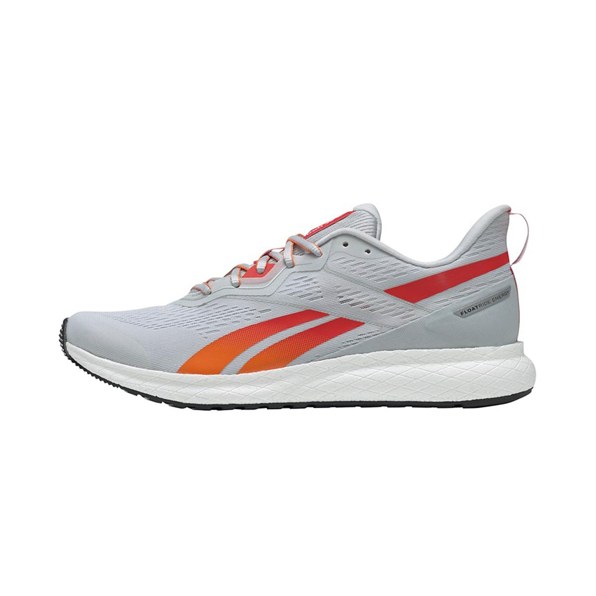 Men's Reebok Forever Floatride Energy 2.0 Running Shoe - Color: Pure Grey/White/High Vis Orange - Size: 7 - Width: Regular, Pure Grey/White/High Vis Orange, large, image 2
