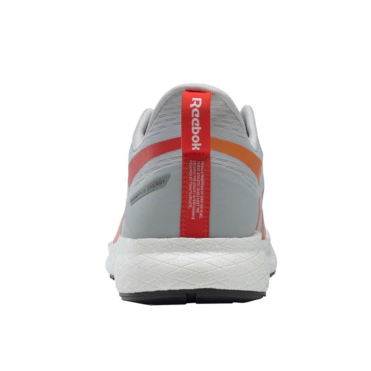 Men's Reebok Forever Floatride Energy 2.0 Running Shoe - Color: Pure Grey/White/High Vis Orange - Size: 7 - Width: Regular, Pure Grey/White/High Vis Orange, large, image 4