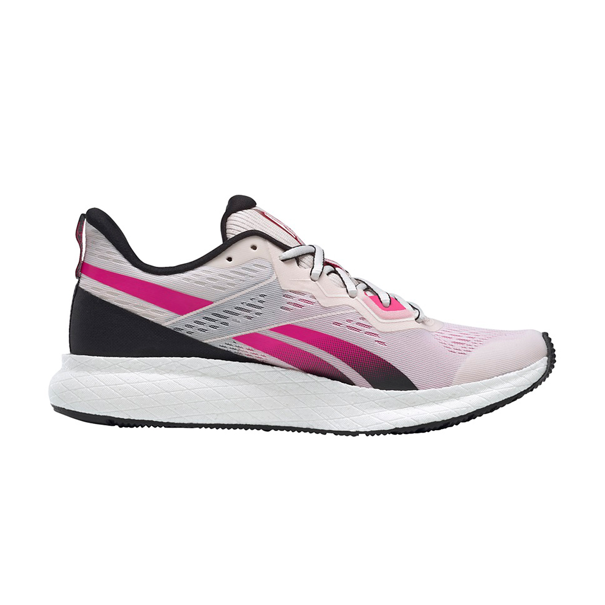 Women's Reebok Forever Floatride Energy 2.0 Running Shoe - Color: Glass Pink/Black/Proud Pink - Size: 5 - Width: Regular, Glass Pink/Black/Proud Pink, large, image 1