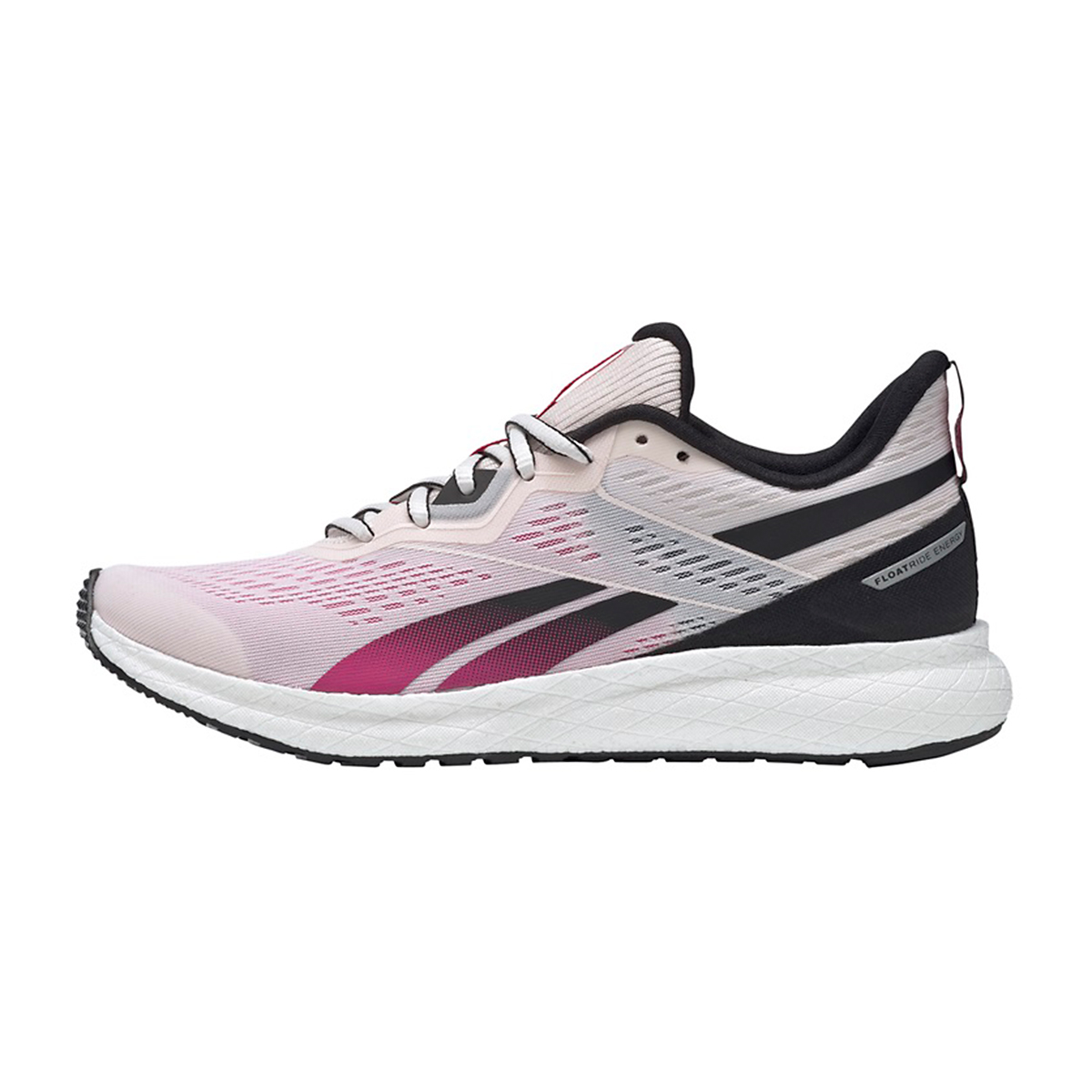 Women's Reebok Forever Floatride Energy 2.0 Running Shoe - Color: Glass Pink/Black/Proud Pink - Size: 5 - Width: Regular, Glass Pink/Black/Proud Pink, large, image 2