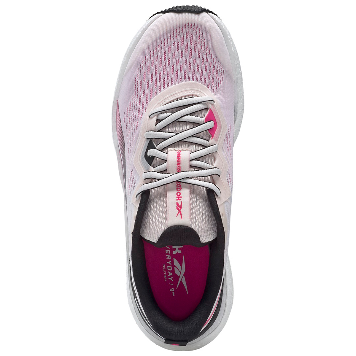 Women's Reebok Forever Floatride Energy 2.0 Running Shoe - Color: Glass Pink/Black/Proud Pink - Size: 5 - Width: Regular, Glass Pink/Black/Proud Pink, large, image 3