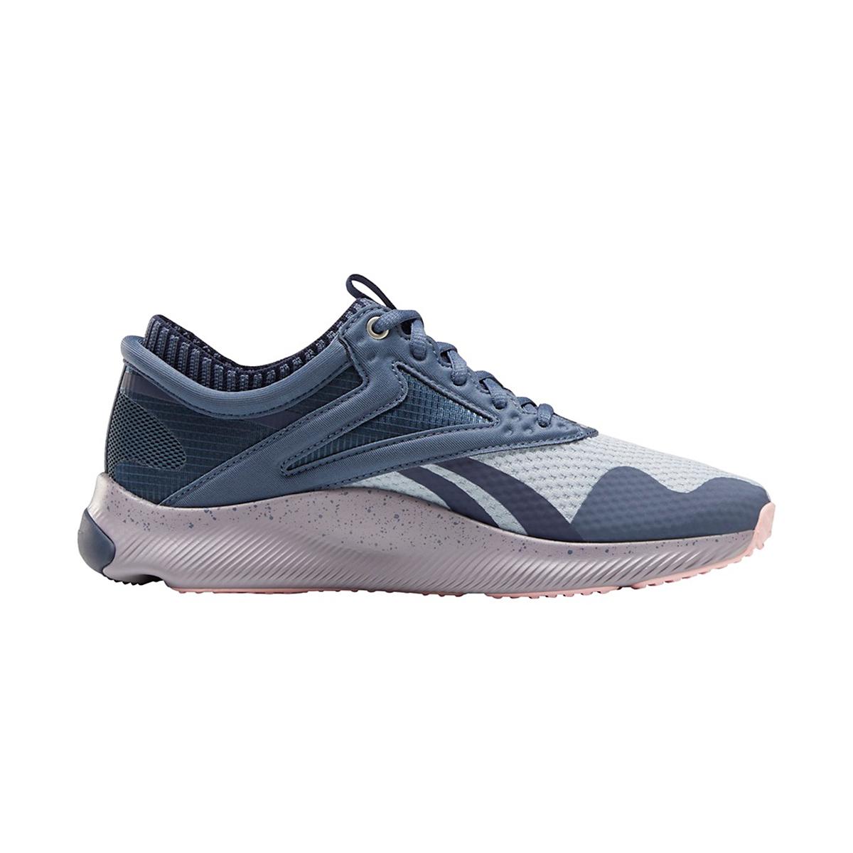 Women's Reebok HIIT Training Shoe - Color: Smoky Indigo/Meteor Grey/White - Size: 5 - Width: Regular, Smoky Indigo/Meteor Grey/White, large, image 1