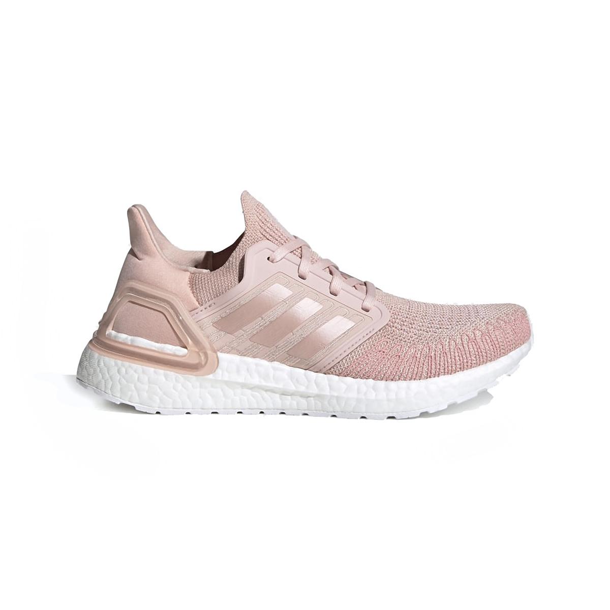 Women's Adidas Ultraboost 20 Running Shoe - Color: Vapour Pink/Cloud White - Size: 5 - Width: Regular, Vapour Pink/Cloud White, large, image 1