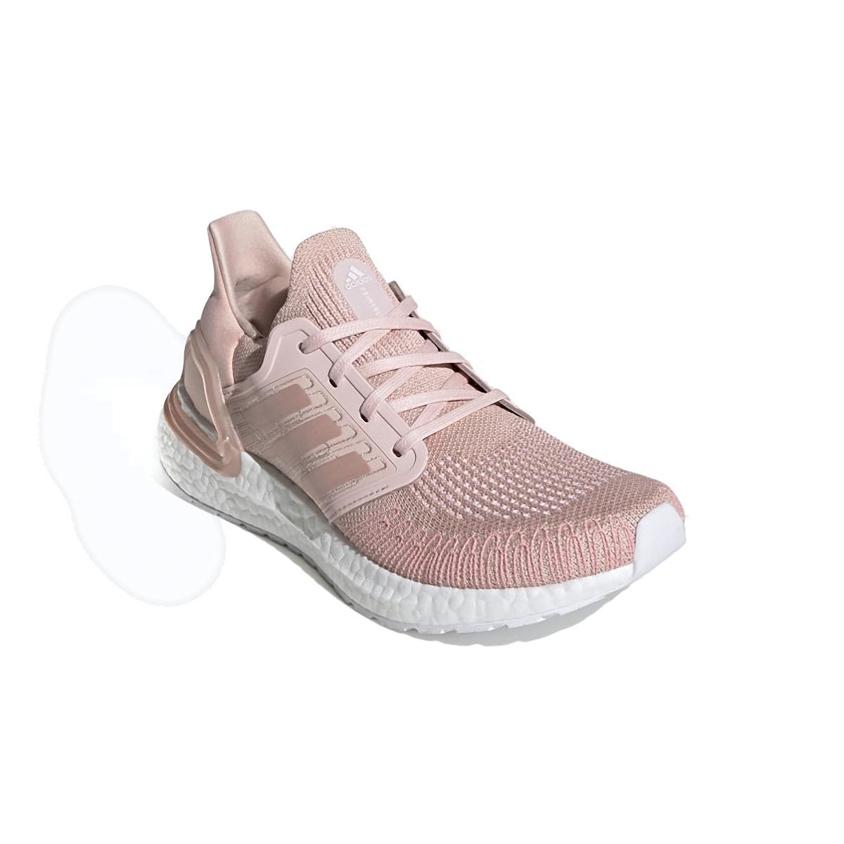 Women's Adidas Ultraboost 20 Running Shoe - Color: Vapour Pink/Cloud White - Size: 5 - Width: Regular, Vapour Pink/Cloud White, large, image 4