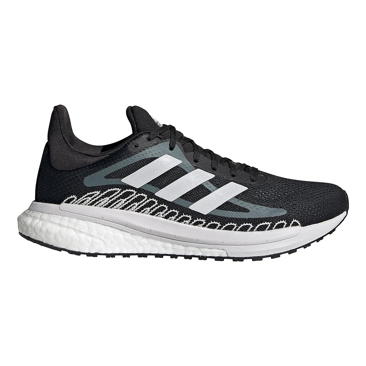 Women's Adidas Solar Glide ST 3 Running Shoe - Color: Core Black - Size: 5 - Width: Regular, Core Black, large, image 1