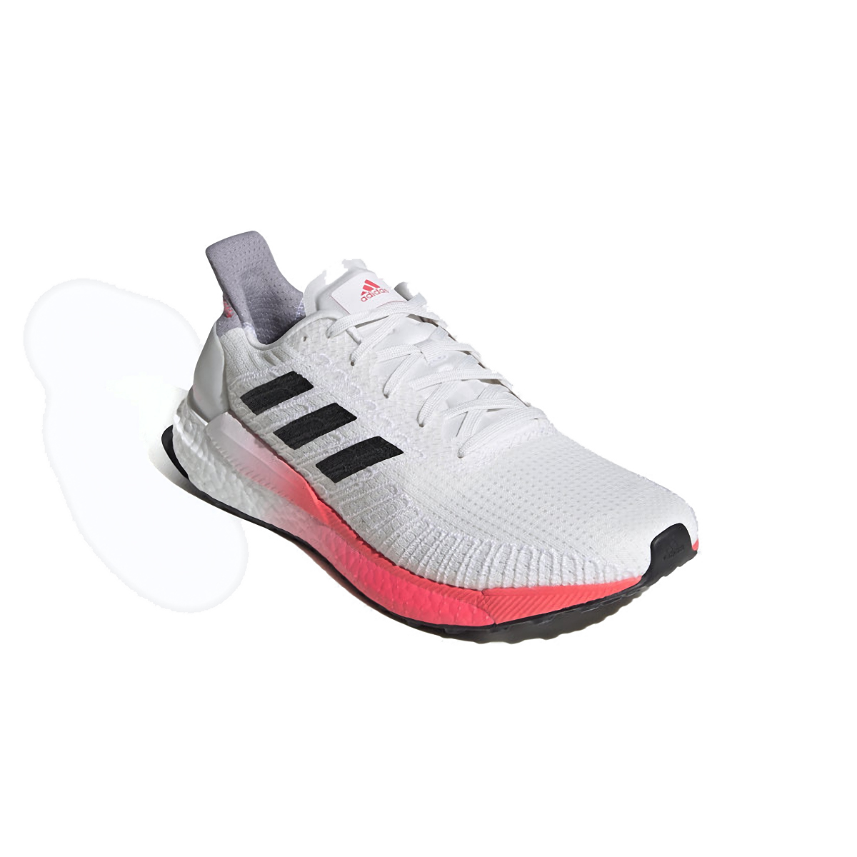 Men's Adidas SolarBOOST 19 Running Shoe - Color: Crystal White/Core Black/Copper Metallic - Size: 6.5 - Width: Regular, Crystal White/Core Black/Copper Metallic, large, image 4
