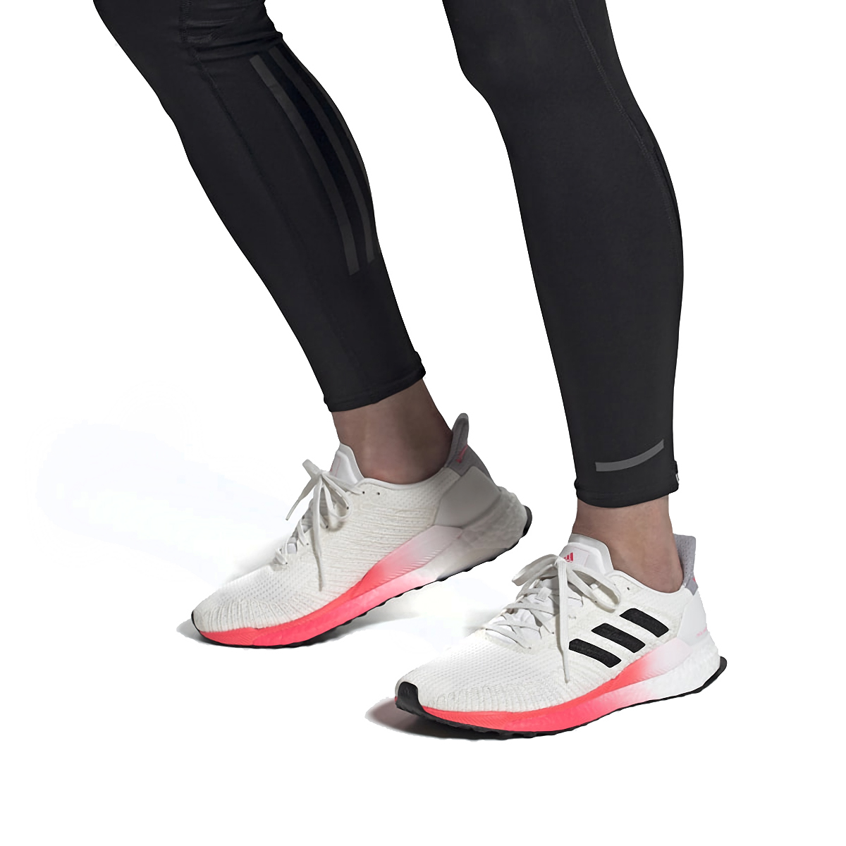 Men's Adidas SolarBOOST 19 Running Shoe - Color: Crystal White/Core Black/Copper Metallic - Size: 6.5 - Width: Regular, Crystal White/Core Black/Copper Metallic, large, image 5