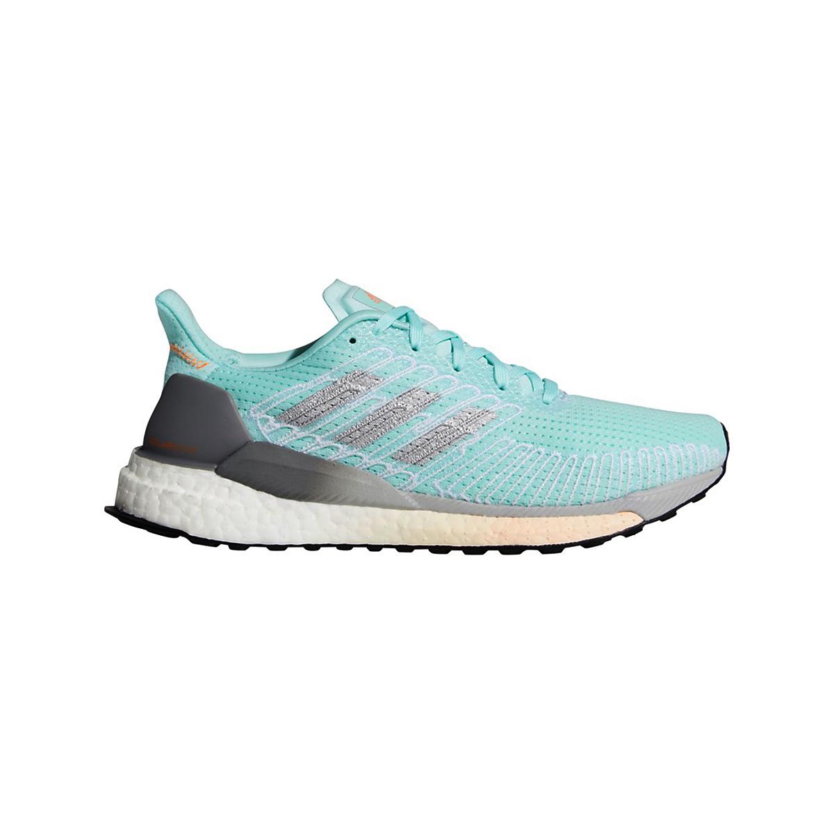 Women's Adidas SolarBOOST 19 Running Shoe - Color: Frost Mint/Silver Metallic/Grey - Size: 5 - Width: Regular, Frost Mint/Silver Metallic/Grey, large, image 1