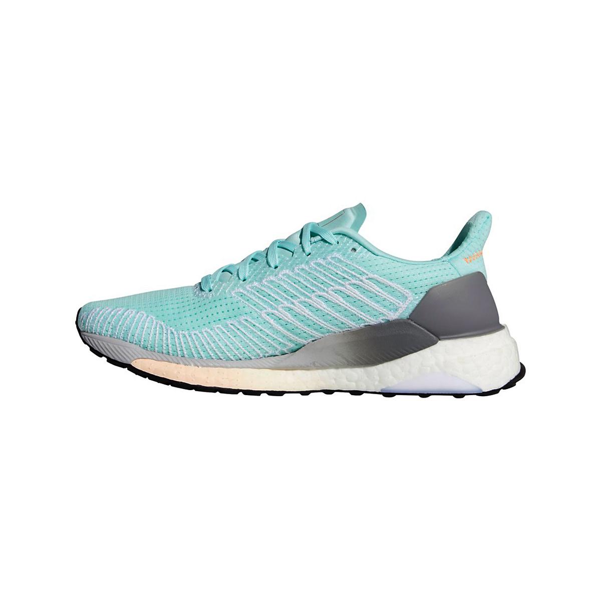 Women's Adidas SolarBOOST 19 Running Shoe - Color: Frost Mint/Silver Metallic/Grey - Size: 5 - Width: Regular, Frost Mint/Silver Metallic/Grey, large, image 2