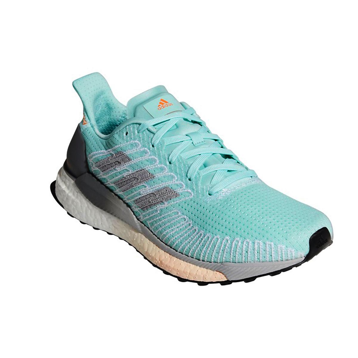 Women's Adidas SolarBOOST 19 Running Shoe - Color: Frost Mint/Silver Metallic/Grey - Size: 5 - Width: Regular, Frost Mint/Silver Metallic/Grey, large, image 3