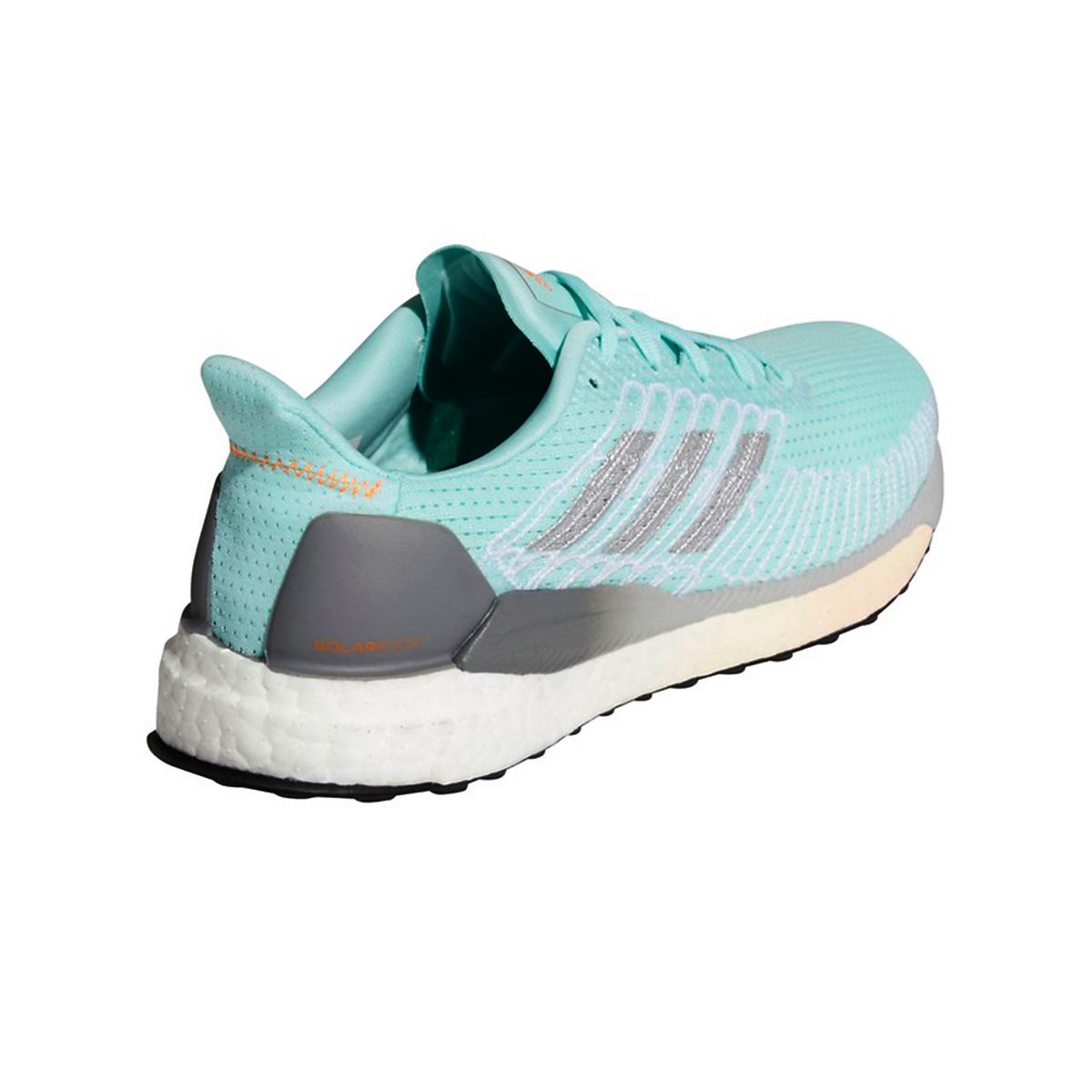 Women's Adidas SolarBOOST 19 Running Shoe - Color: Frost Mint/Silver Metallic/Grey - Size: 5 - Width: Regular, Frost Mint/Silver Metallic/Grey, large, image 4