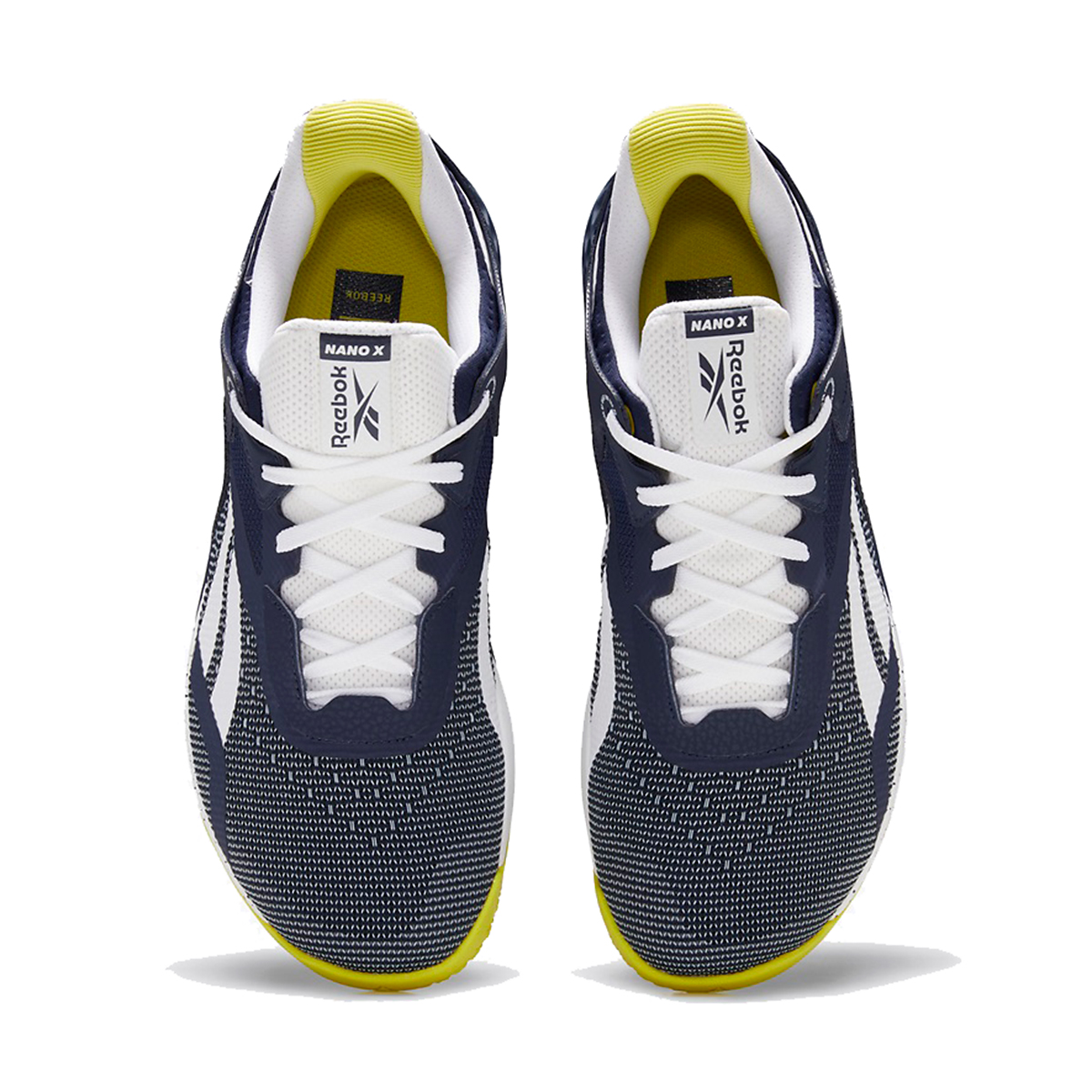 Men's Reebok Nano X Training Shoe - Color: Vector Navy/White/Chartreuse - Size: 6.5 - Width: Regular, Vector Navy/White/Chartreuse, large, image 4