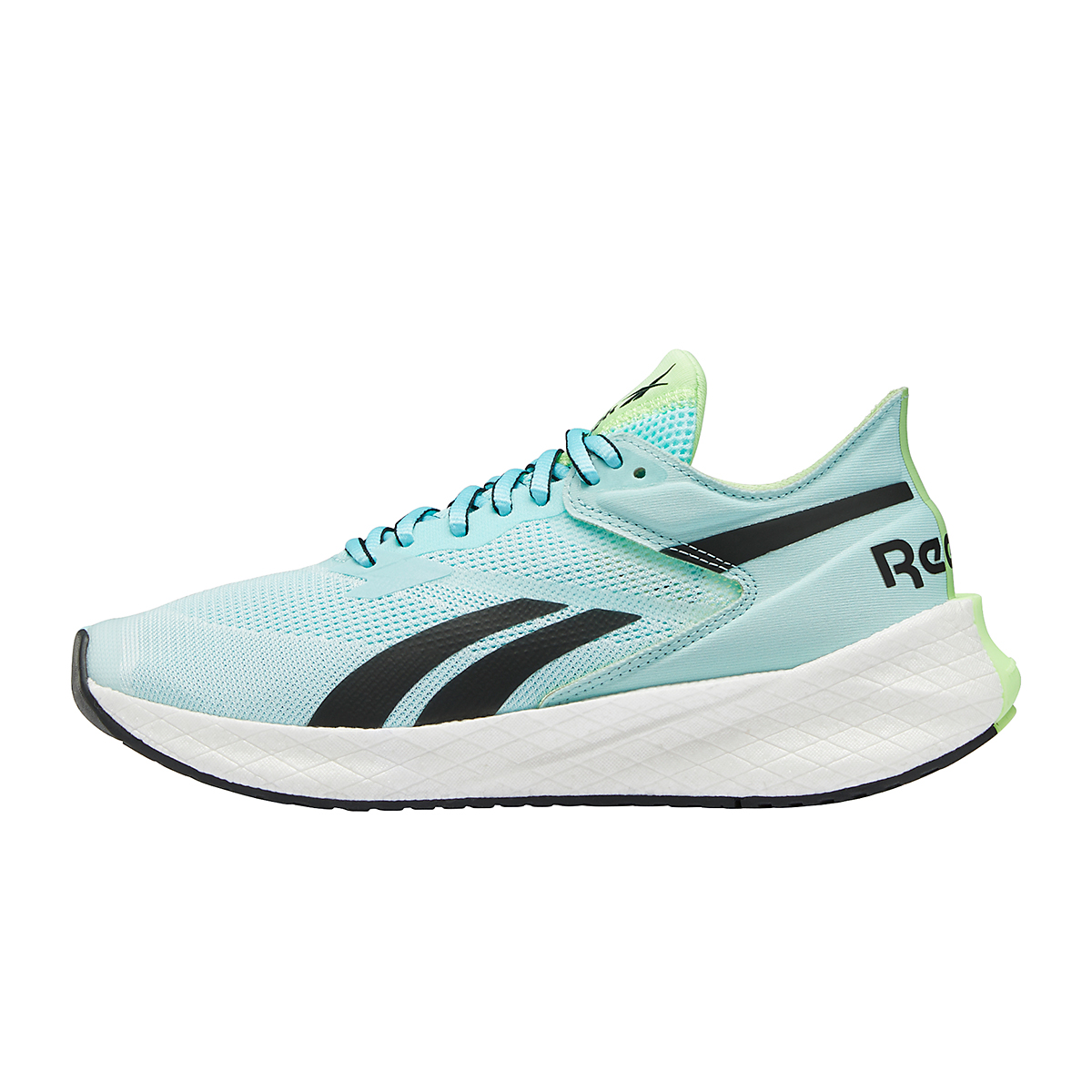Women's Reebok Floatride Energy Symmetros Running Shoe - Color: Digital Glow/Chalk Blue/Neon Mint - Size: 6 - Width: Regular, Digital Glow/Chalk Blue/Neon Mint, large, image 2