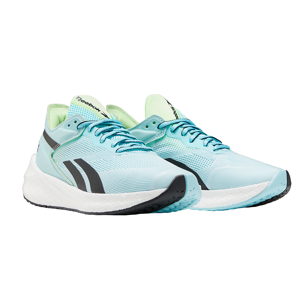 Women's Reebok Floatride Energy Symmetros Running Shoe - Color: Digital Glow/Chalk Blue/Neon Mint - Size: 6 - Width: Regular, Digital Glow/Chalk Blue/Neon Mint, large, image 4