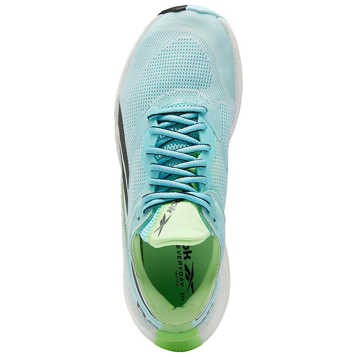 Women's Reebok Floatride Energy Symmetros Running Shoe - Color: Digital Glow/Chalk Blue/Neon Mint - Size: 6 - Width: Regular, Digital Glow/Chalk Blue/Neon Mint, large, image 6