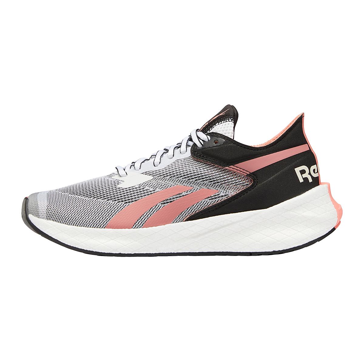 Women's Reebok Floatride Energy Symmetros Running Shoe - Color: White/Core Black/Twisted Coral - Size: 6.5 - Width: Regular, White/Core Black/Twisted Coral, large, image 2