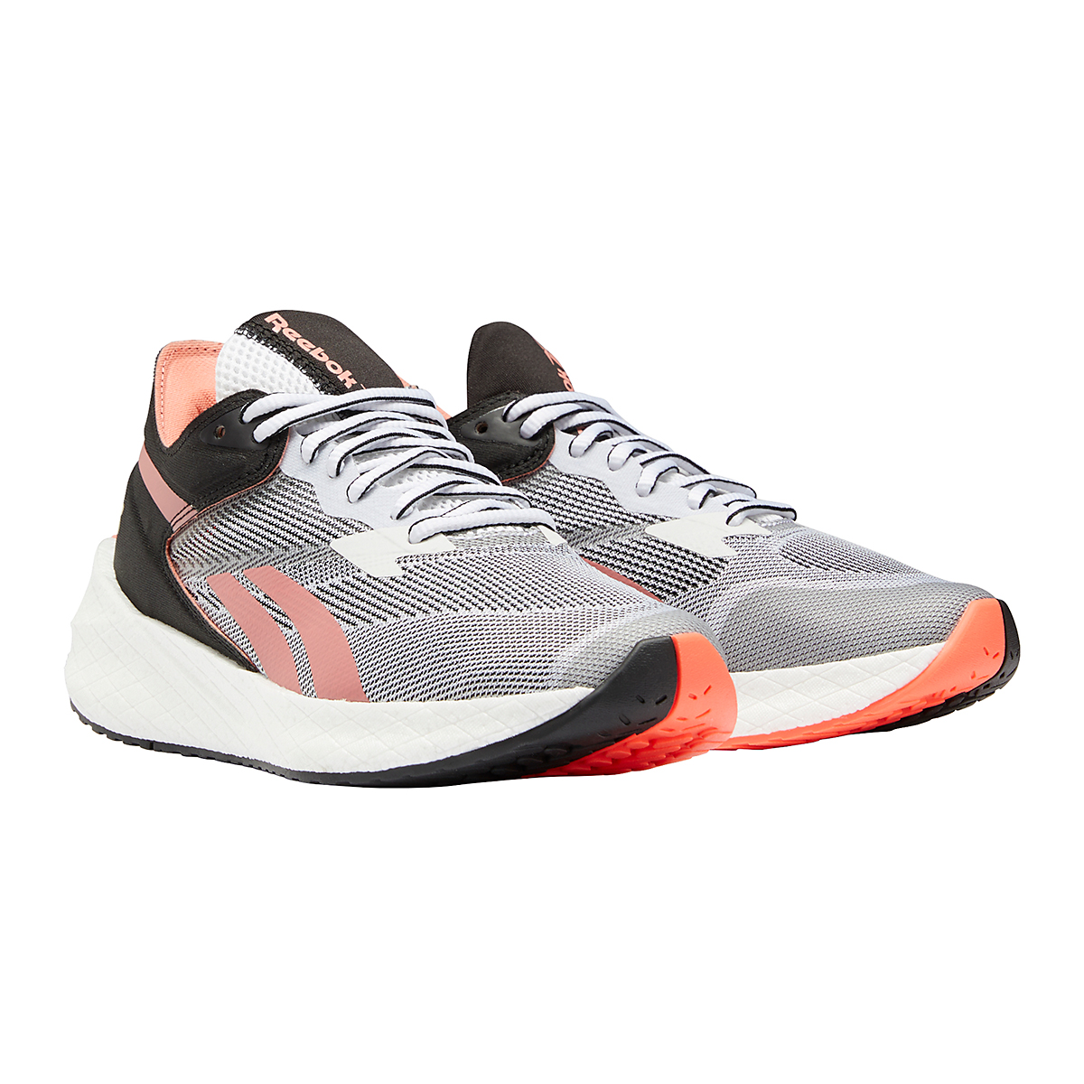Women's Reebok Floatride Energy Symmetros Running Shoe - Color: White/Core Black/Twisted Coral - Size: 6.5 - Width: Regular, White/Core Black/Twisted Coral, large, image 4