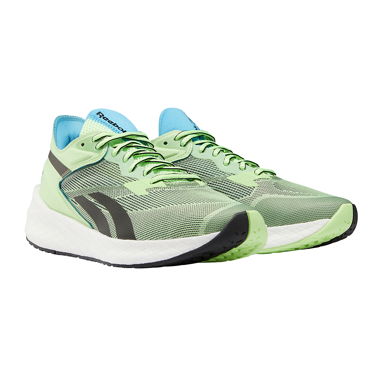 Men's Reebok Floatride Energy Symmetros Running Shoe - Color: Neon Mint/Core Black/White - Size: 7 - Width: Regular, Neon Mint/Core Black/White, large, image 4