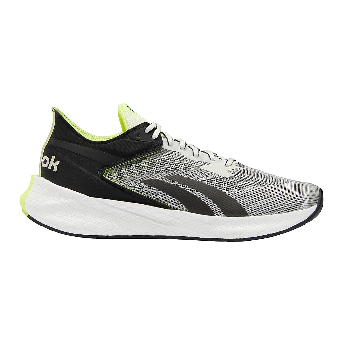 Men's Reebok Floatride Energy Symmetros Running Shoe - Color: Classic White/Core Black/Yellow Flare - Size: 7 - Width: Regular, Classic White/Core Black/Yellow Flare, large, image 1