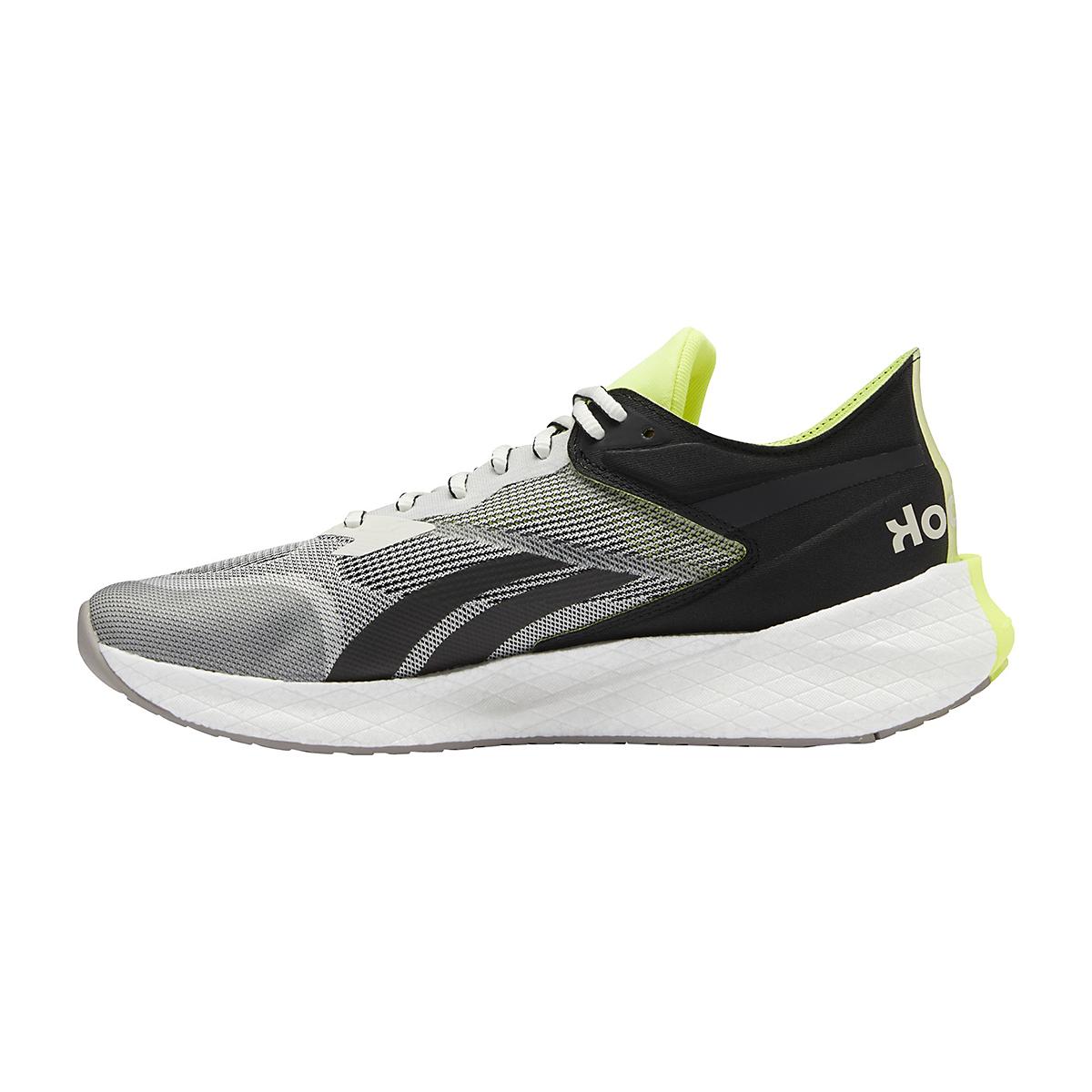 Men's Reebok Floatride Energy Symmetros Running Shoe - Color: Classic White/Core Black/Yellow Flare - Size: 7 - Width: Regular, Classic White/Core Black/Yellow Flare, large, image 2