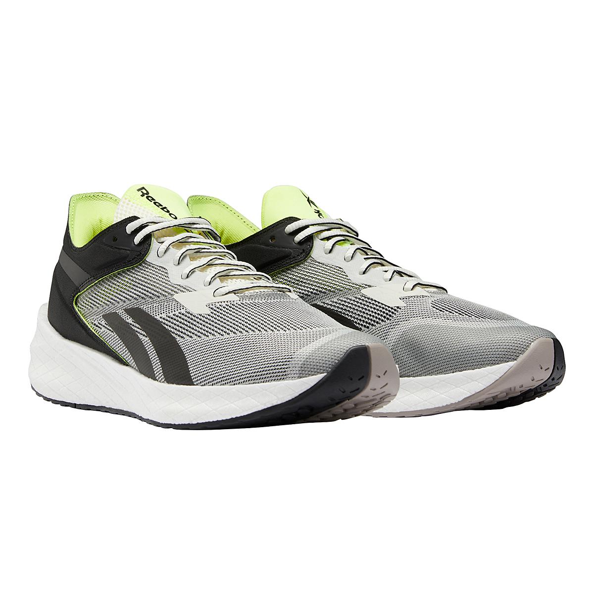 Men's Reebok Floatride Energy Symmetros Running Shoe - Color: Classic White/Core Black/Yellow Flare - Size: 7 - Width: Regular, Classic White/Core Black/Yellow Flare, large, image 3