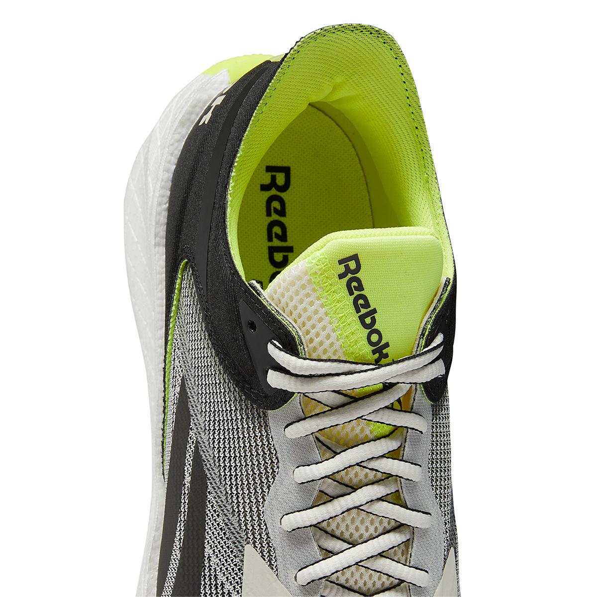 Men's Reebok Floatride Energy Symmetros Running Shoe - Color: Classic White/Core Black/Yellow Flare - Size: 7 - Width: Regular, Classic White/Core Black/Yellow Flare, large, image 4