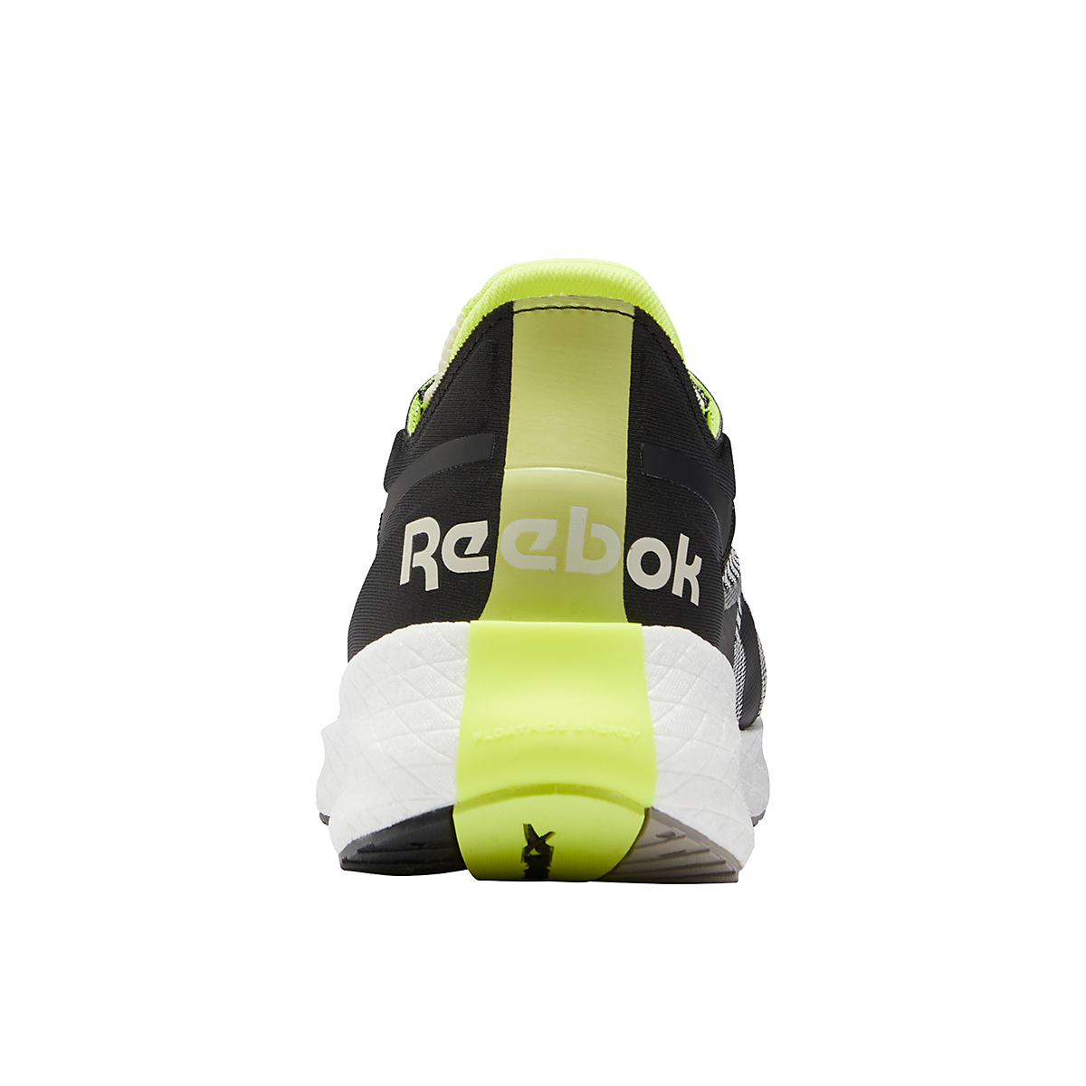 Men's Reebok Floatride Energy Symmetros Running Shoe - Color: Classic White/Core Black/Yellow Flare - Size: 7 - Width: Regular, Classic White/Core Black/Yellow Flare, large, image 6