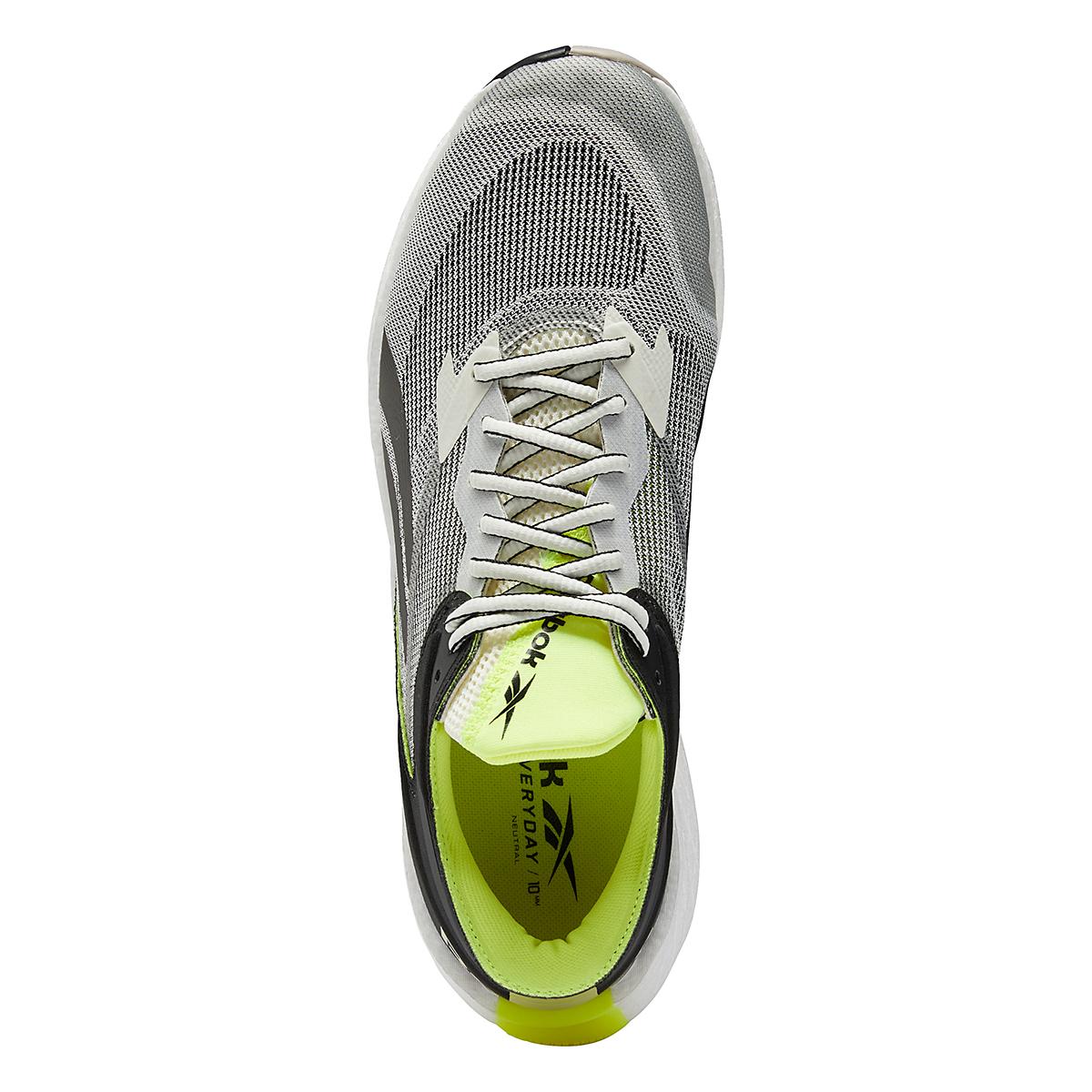 Men's Reebok Floatride Energy Symmetros Running Shoe - Color: Classic White/Core Black/Yellow Flare - Size: 7 - Width: Regular, Classic White/Core Black/Yellow Flare, large, image 7
