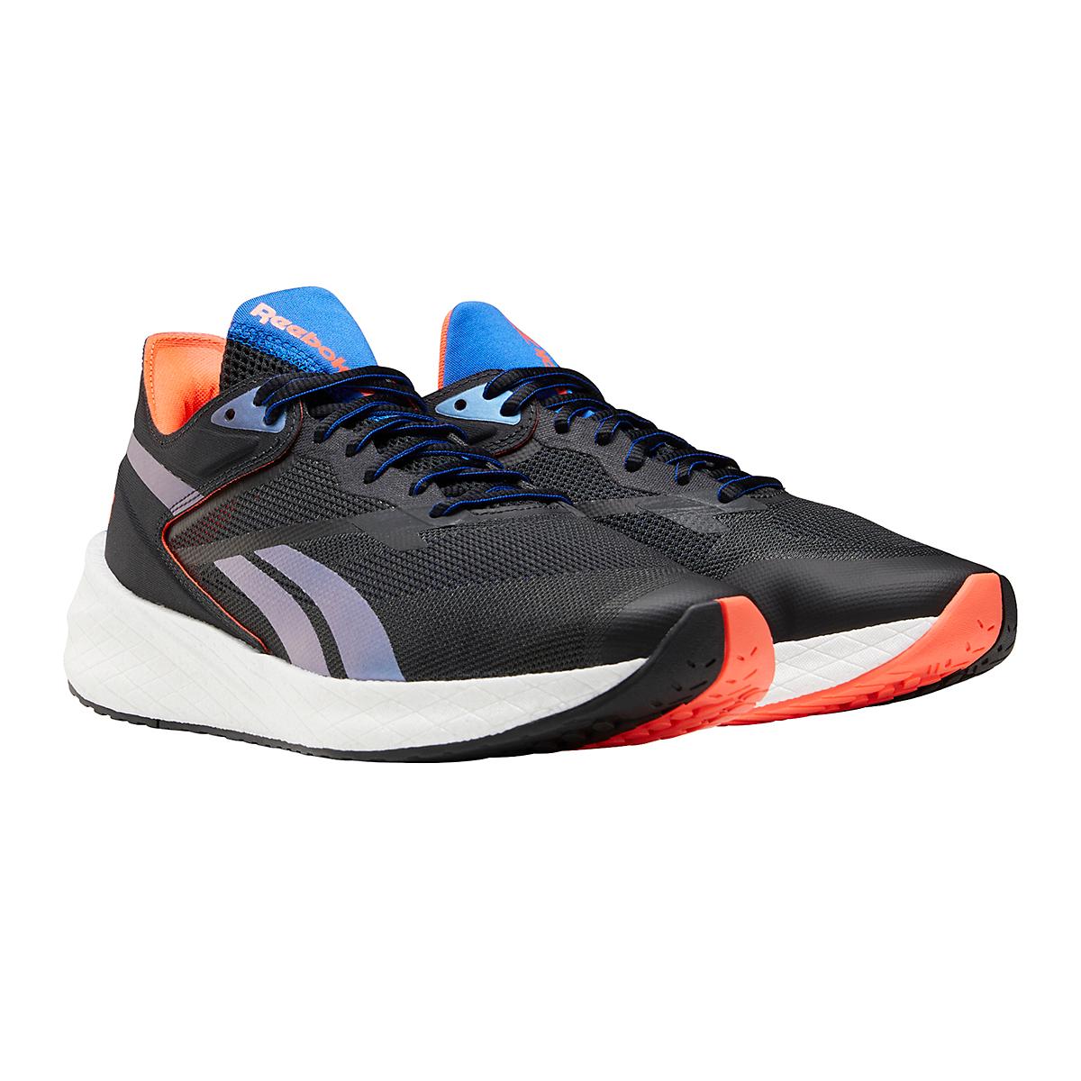 Men's Reebok Floatride Energy Symmetros Running Shoe - Color: Night Black/Court Blue/Orange Flare - Size: 7 - Width: Regular, Night Black/Court Blue/Orange Flare, large, image 4