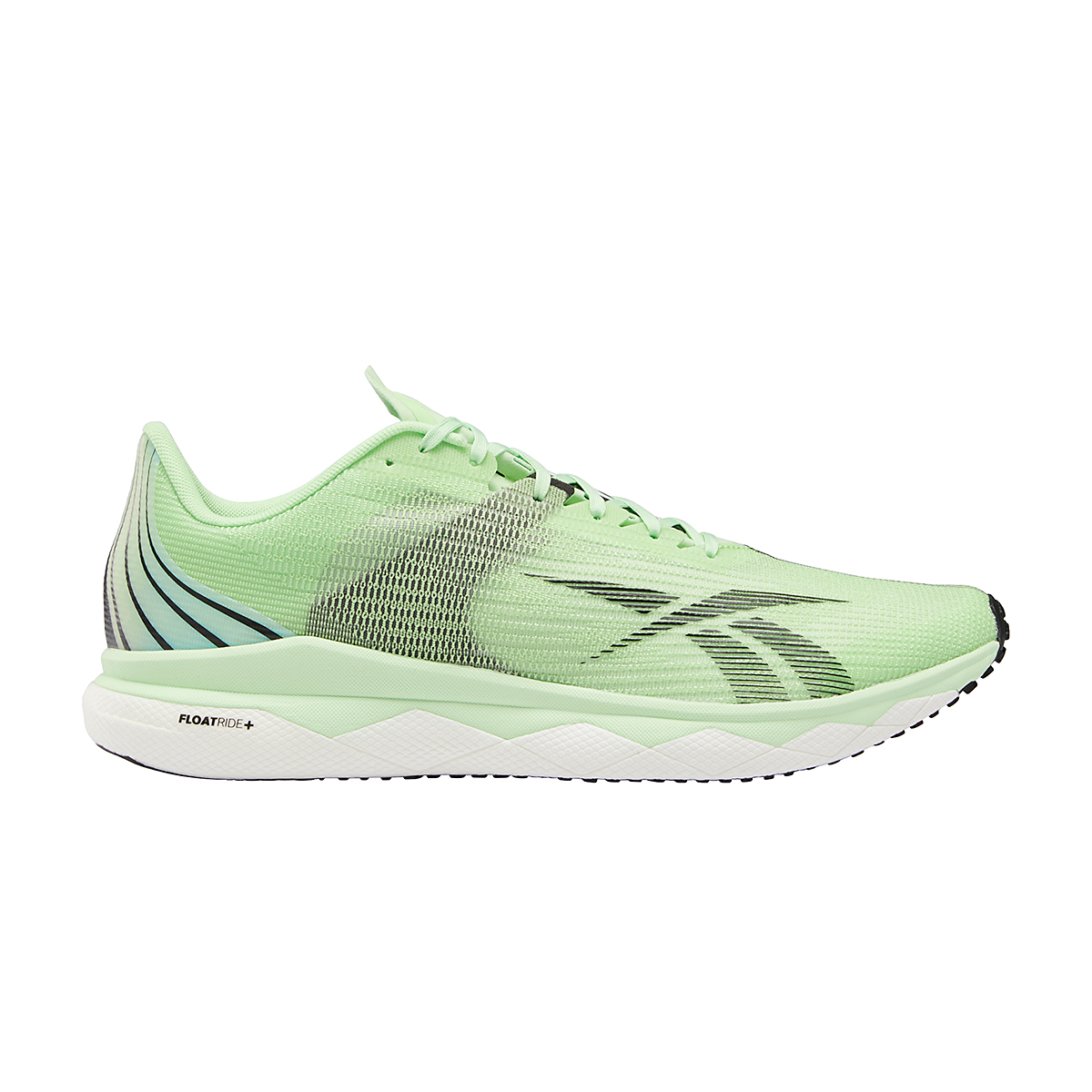 Men's Reebok Floatride Run Fast 3.0 Running Shoe - Color: Neon Mint/White/Core Black - Size: 7 - Width: Regular, Neon Mint/White/Core Black, large, image 1