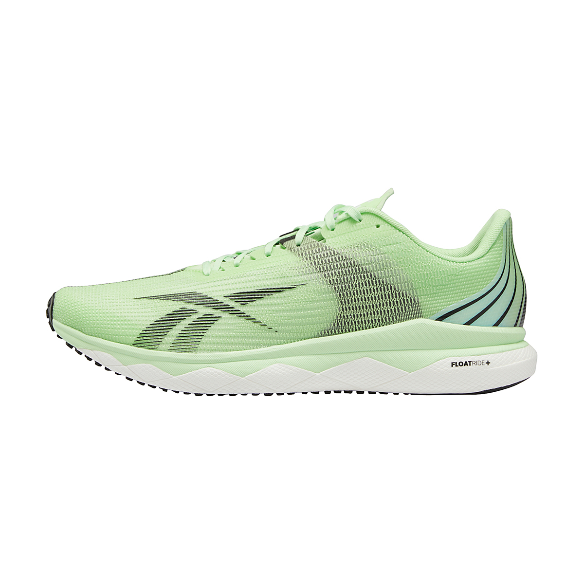 Men's Reebok Floatride Run Fast 3.0 Running Shoe - Color: Neon Mint/White/Core Black - Size: 7 - Width: Regular, Neon Mint/White/Core Black, large, image 2