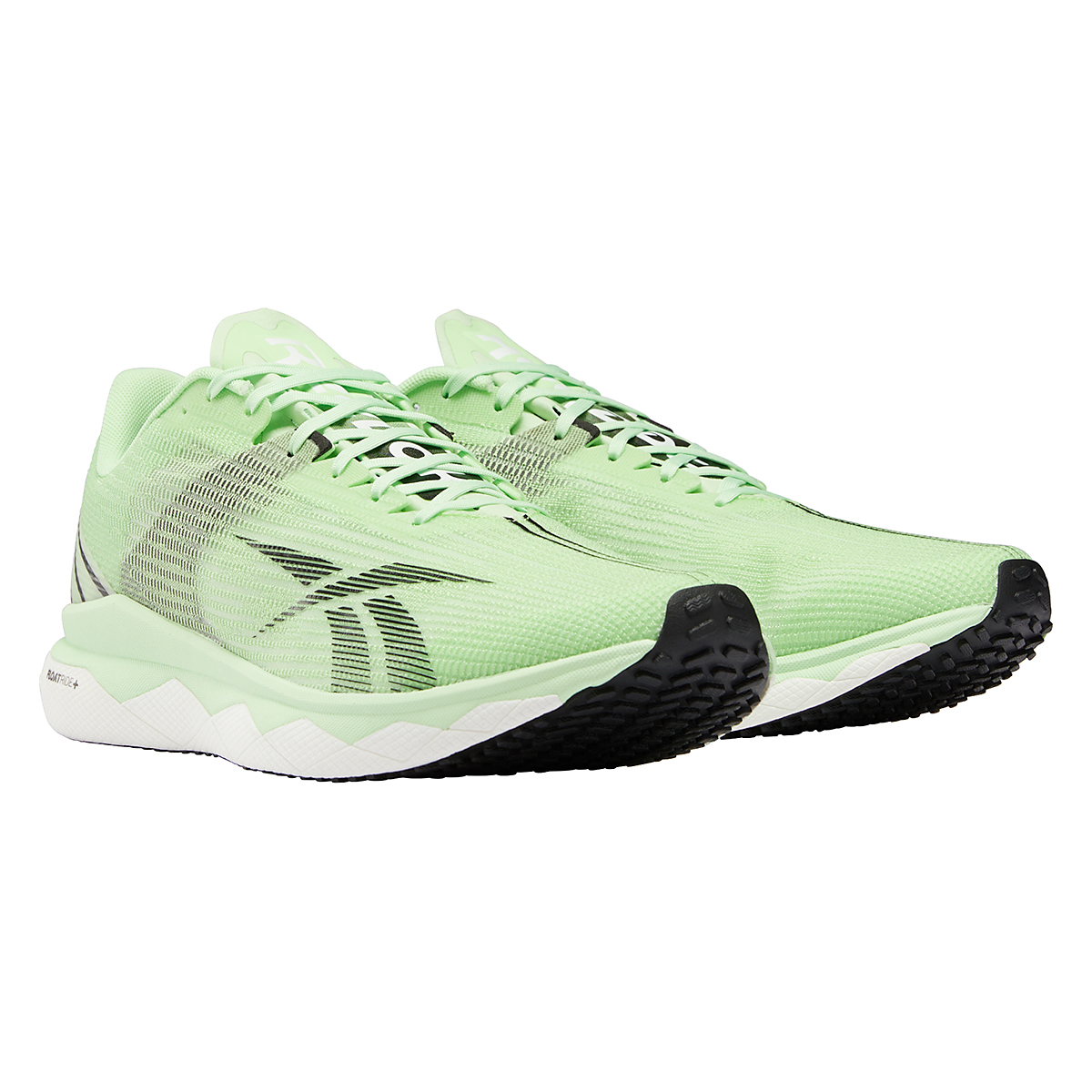 Men's Reebok Floatride Run Fast 3.0 Running Shoe - Color: Neon Mint/White/Core Black - Size: 7 - Width: Regular, Neon Mint/White/Core Black, large, image 4