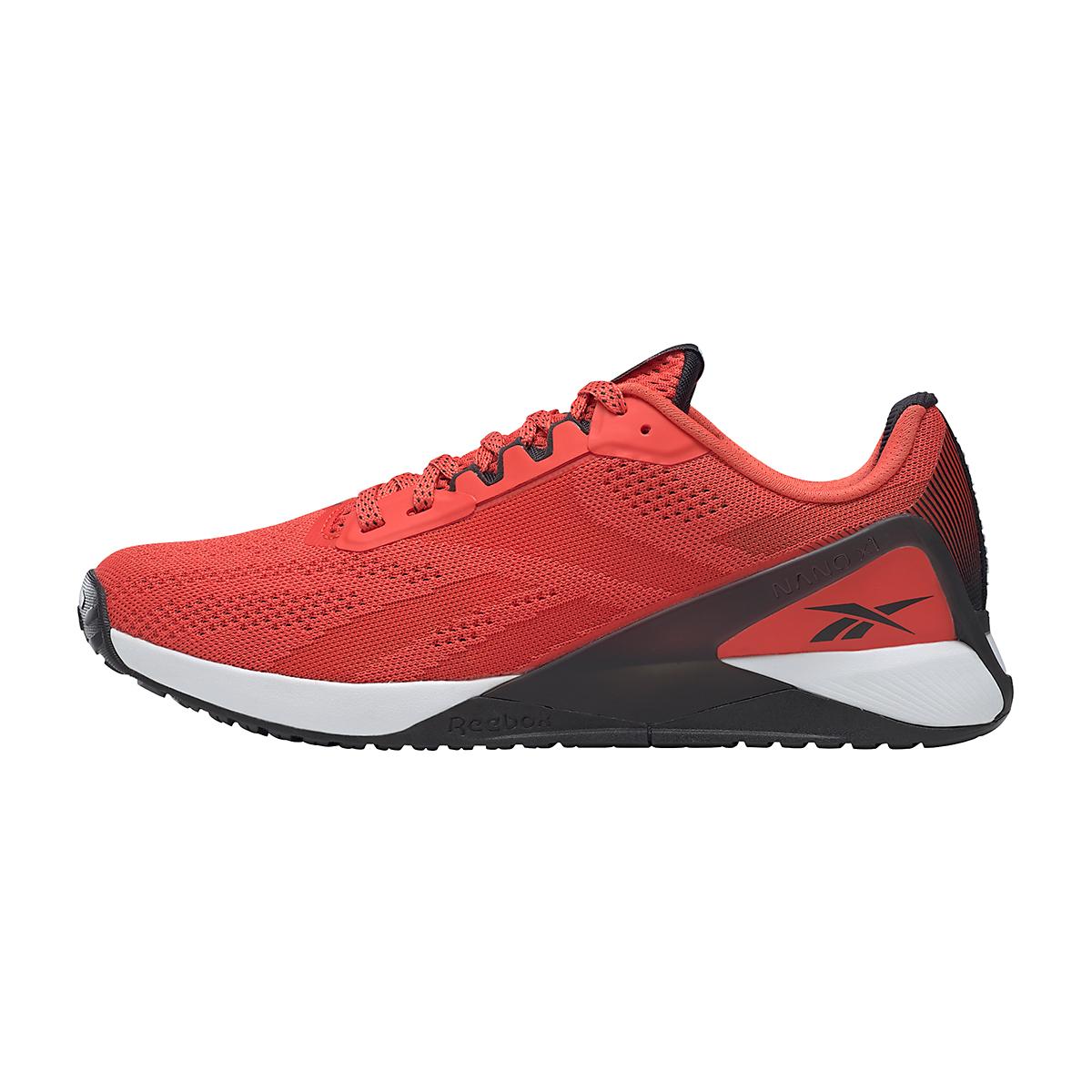 Men's Reebok Nano X1 Training Shoe - Color: Dynamic Red/White/Black - Size: 7 - Width: Regular, Dynamic Red/White/Black, large, image 2