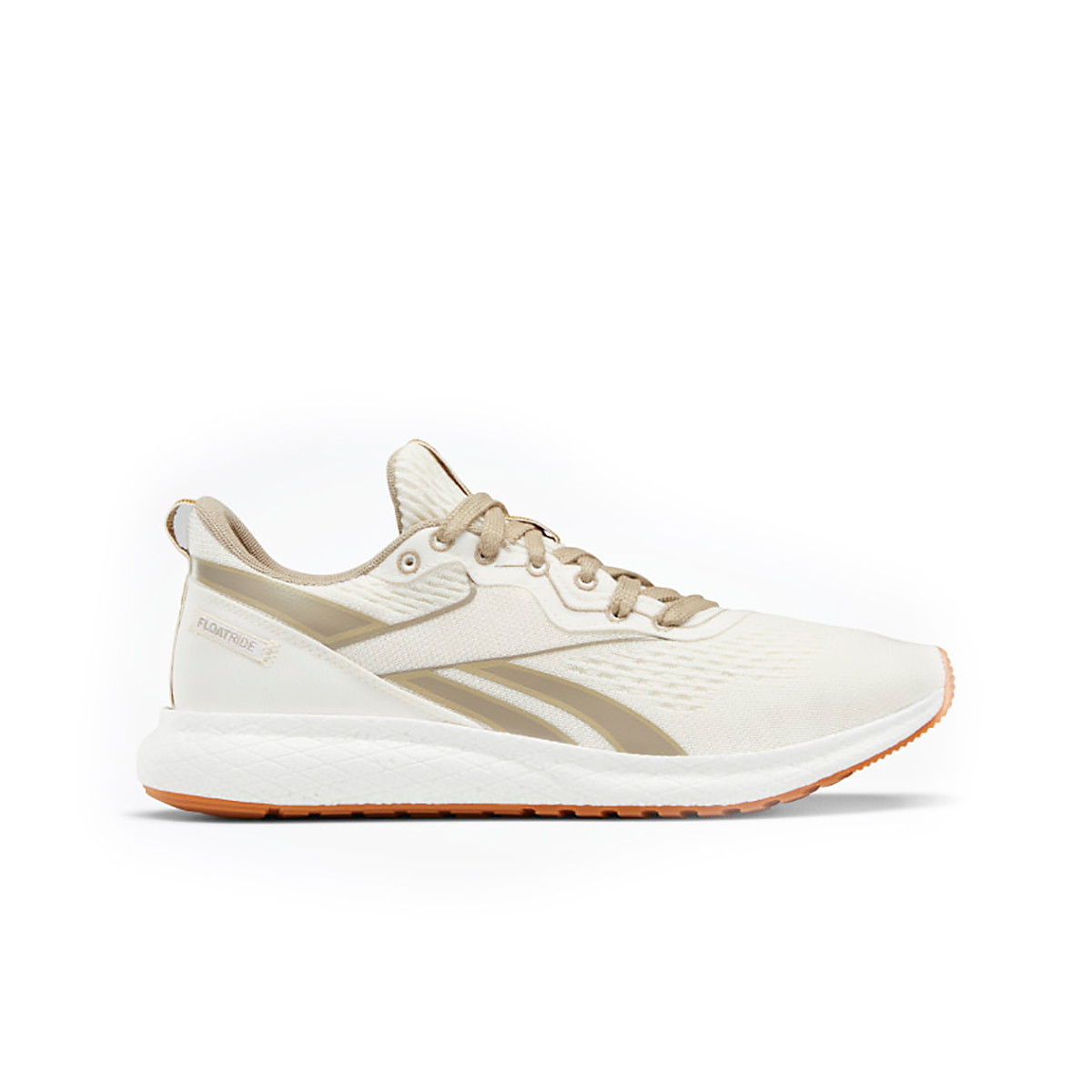 Men's Reebok Forever Floatride Grow Running Shoe - Color: Classic White/Straw/Super Neutral - Size: 8 - Width: Regular, Classic White/Straw/Super Neutral, large, image 1