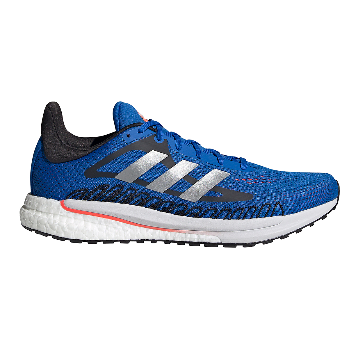 Men's Adidas Solarglide 3 Running Shoe - Color: Football Blue/Silver Metallic/Solar Red - Size: 6.5 - Width: Regular, Football Blue/Silver Metallic/Solar Red, large, image 1