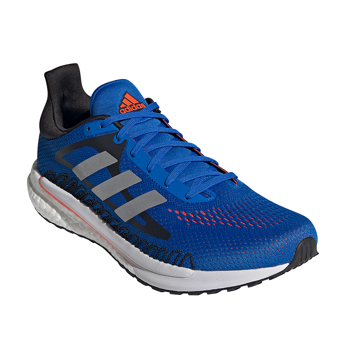 Men's Adidas Solarglide 3 Running Shoe - Color: Football Blue/Silver Metallic/Solar Red - Size: 6.5 - Width: Regular, Football Blue/Silver Metallic/Solar Red, large, image 2