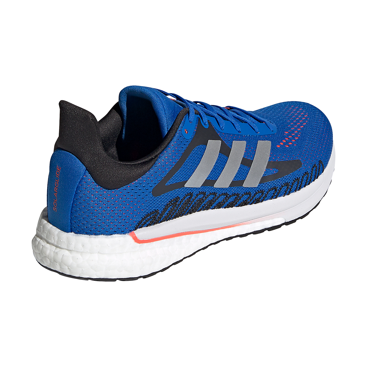 Men's Adidas Solarglide 3 Running Shoe - Color: Football Blue/Silver Metallic/Solar Red - Size: 6.5 - Width: Regular, Football Blue/Silver Metallic/Solar Red, large, image 4