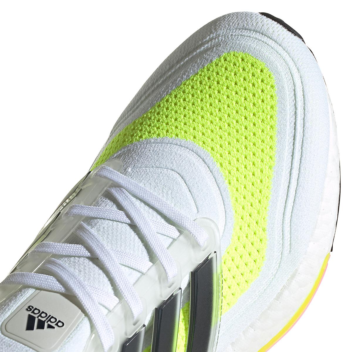 Men's Adidas Ultraboost 21 Running Shoe - Color: Cloud White/Black/Solar Yellow - Size: 5 - Width: Regular, Cloud White/Black/Solar Yellow, large, image 4