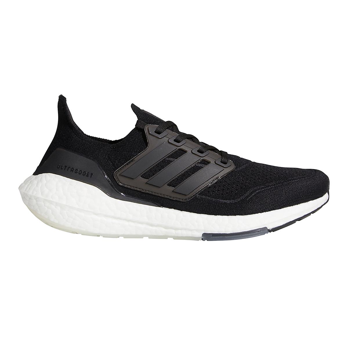 Men's Adidas Ultraboost 21 Running Shoe - Color: Core Black/Grey - Size: 6 - Width: Regular, Core Black/Grey, large, image 1