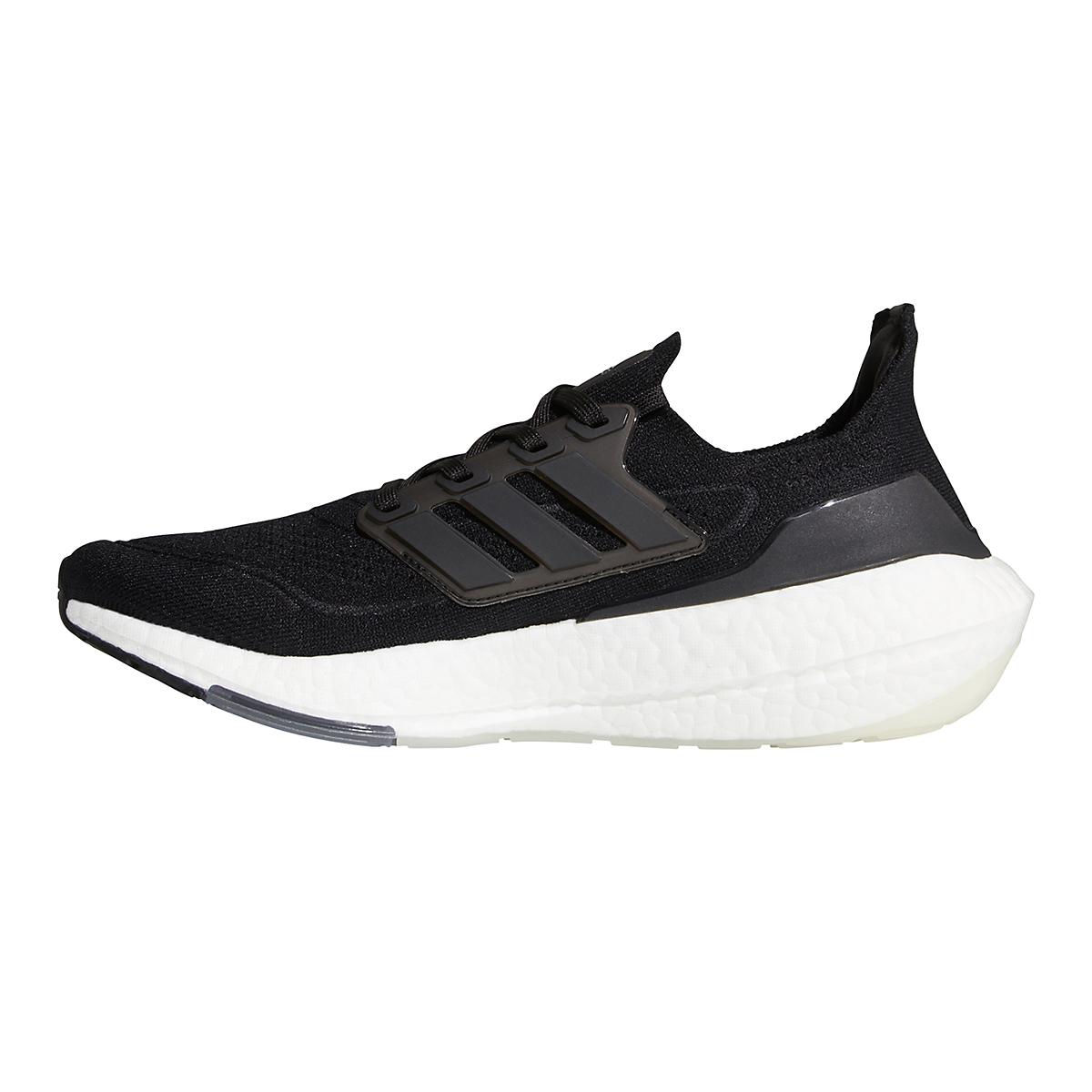 Men's Adidas Ultraboost 21 Running Shoe - Color: Core Black/Grey - Size: 6 - Width: Regular, Core Black/Grey, large, image 2