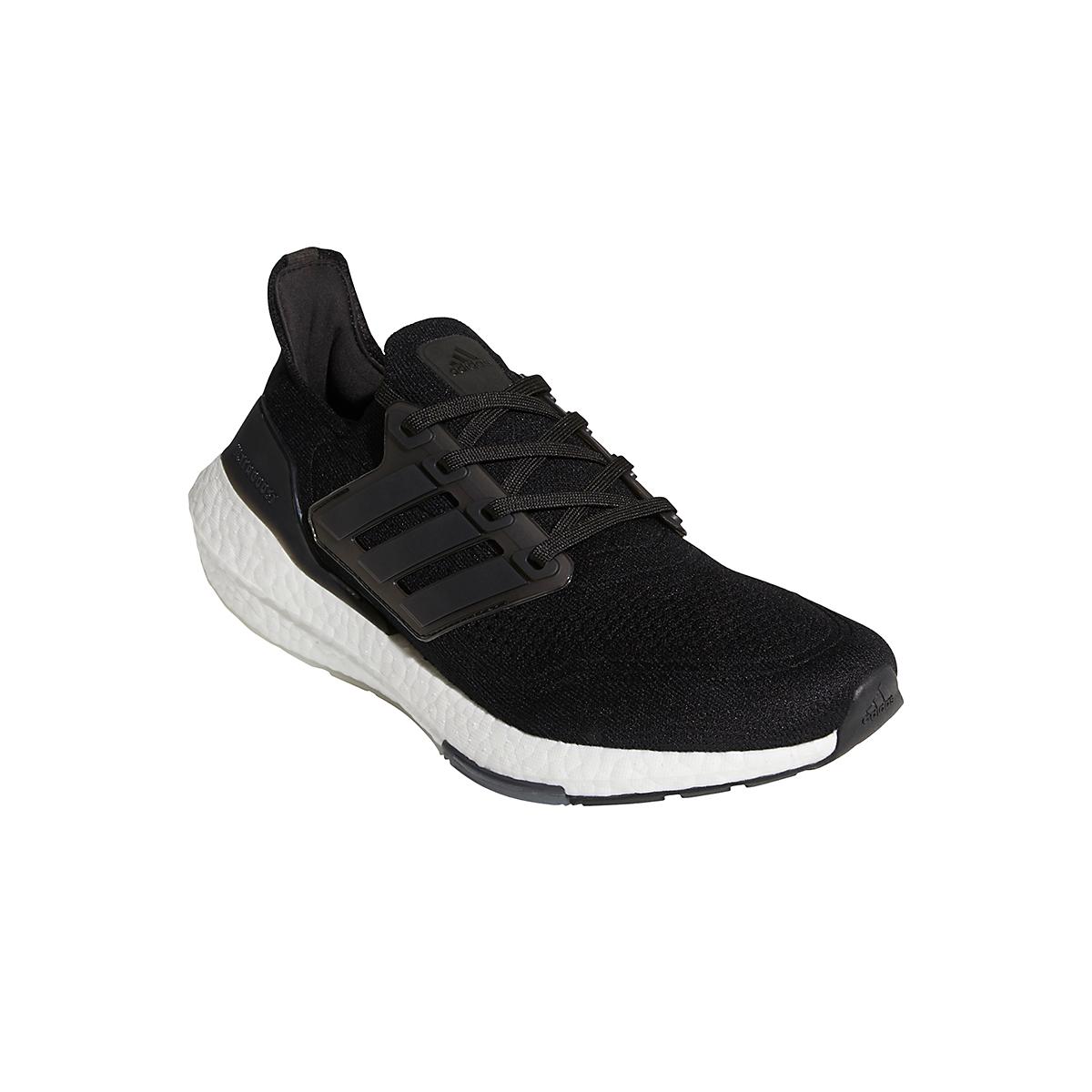 Men's Adidas Ultraboost 21 Running Shoe - Color: Core Black/Grey - Size: 6 - Width: Regular, Core Black/Grey, large, image 3