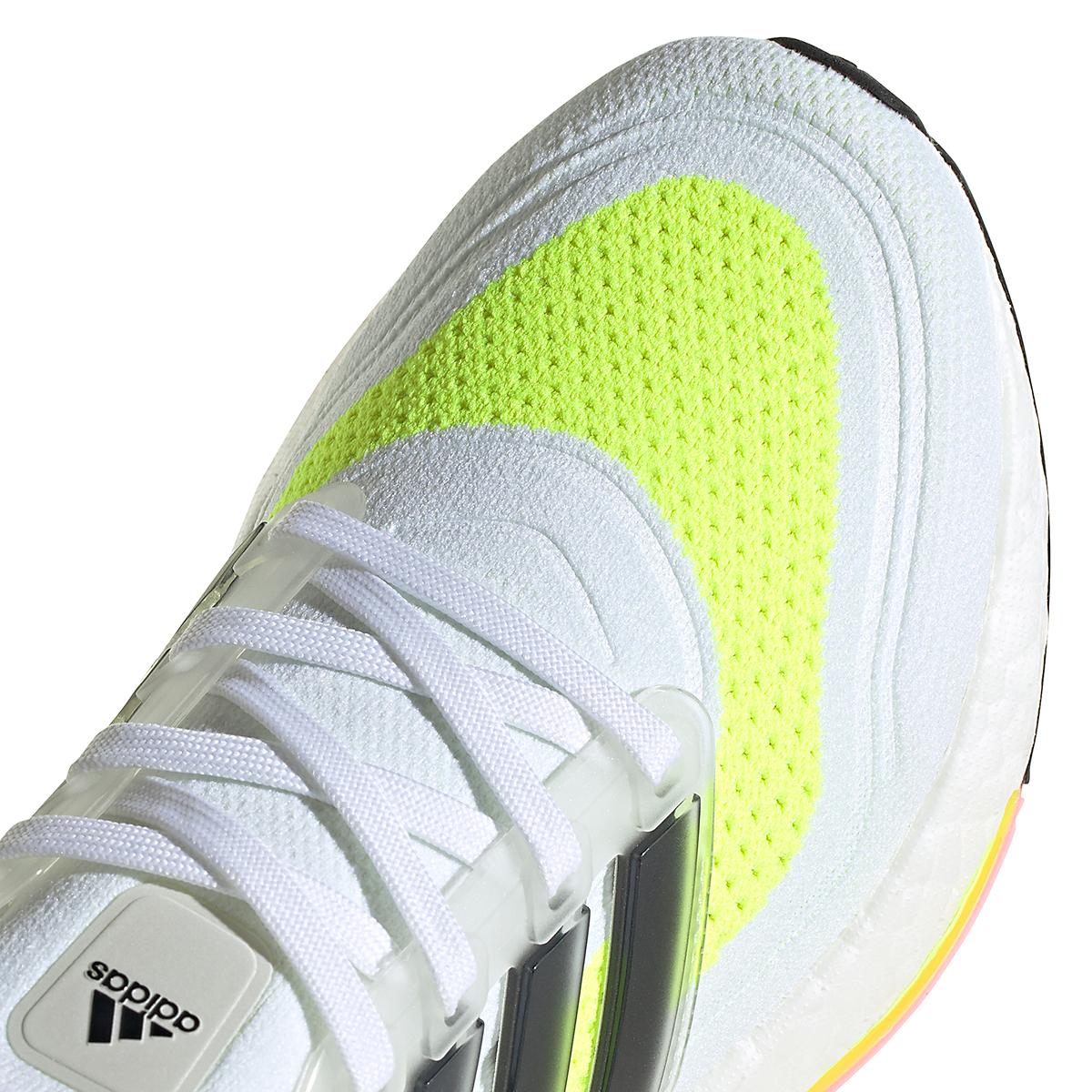 Women's Adidas Ultraboost 21 Running Shoe - Color: Cloud White/Black/Solar Yellow - Size: 5 - Width: Regular, Cloud White/Black/Solar Yellow, large, image 2