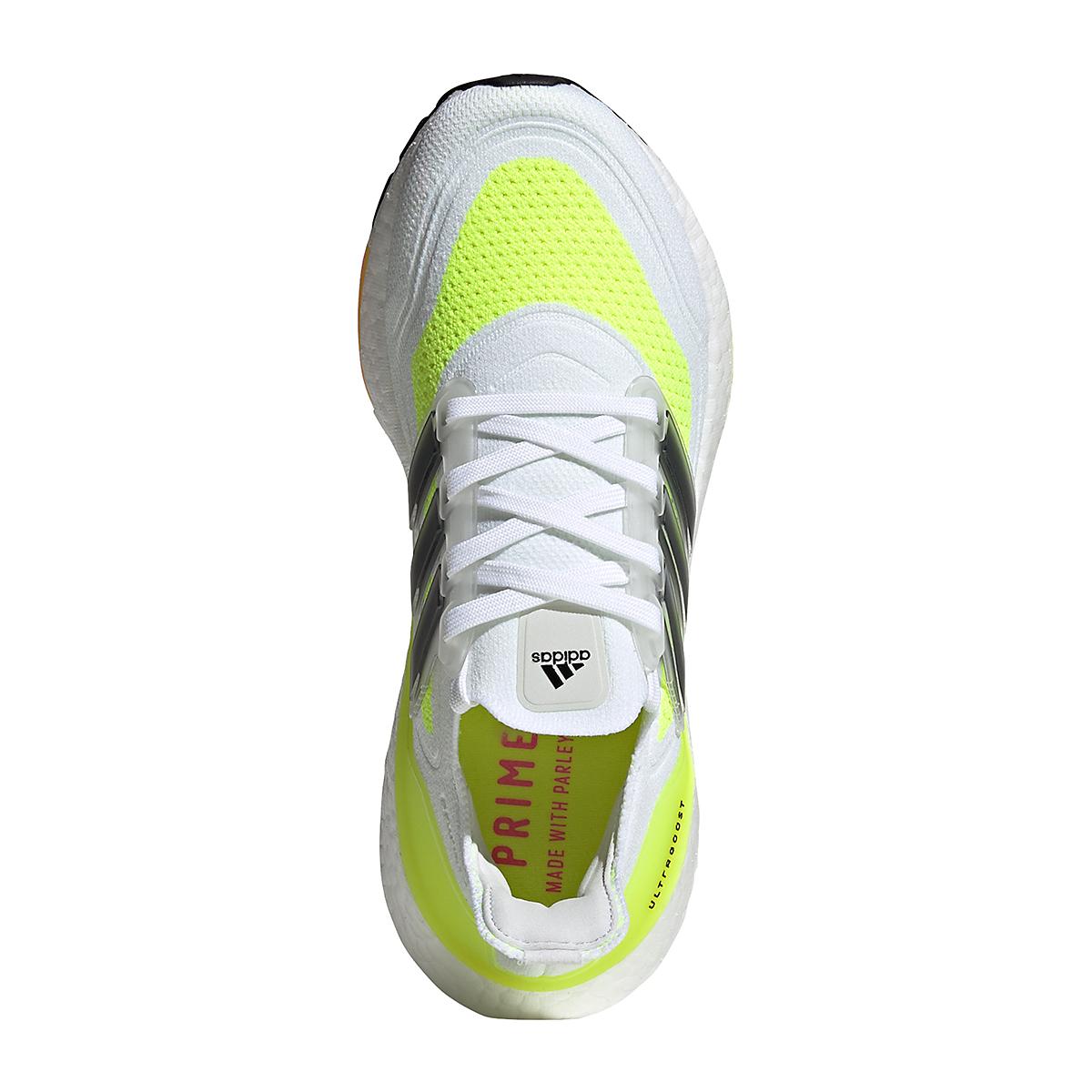 Women's Adidas Ultraboost 21 Running Shoe - Color: Cloud White/Black/Solar Yellow - Size: 5 - Width: Regular, Cloud White/Black/Solar Yellow, large, image 6