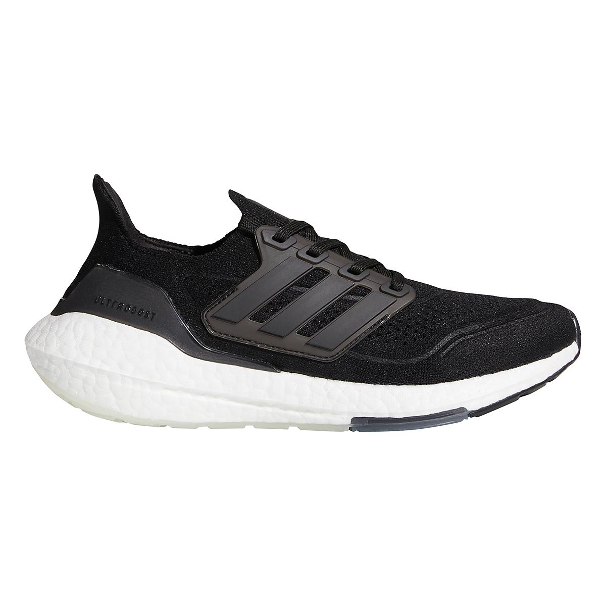 Women's Adidas Ultraboost 21 Running Shoe - Color: Core Black/Grey - Size: 5 - Width: Regular, Core Black/Grey, large, image 1